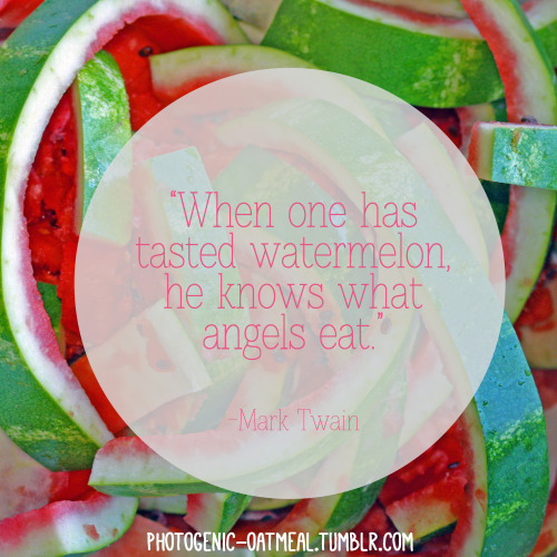 Try frozen water melon. It's wonderful :) x