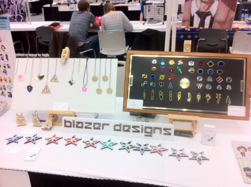My artist alley booth setup at SakuraCon