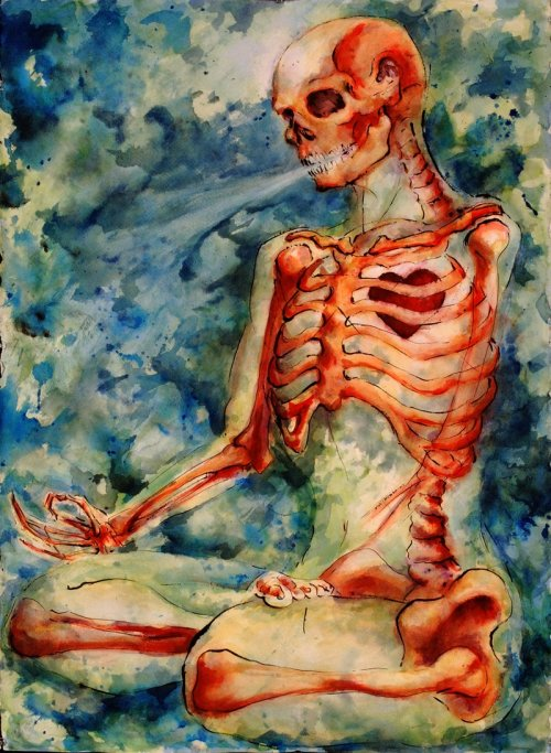 2headedsnake:  Zen Skeleton by Jacqueline L