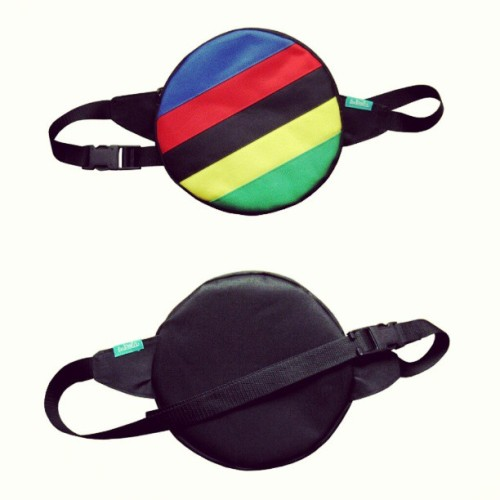 Round waist bag FIXEDgr by lukola // wheel diameter 21 cm // handmade in #poland #polska #bag #roundbag #waistbag #instabag #streetbag #bagdesign #bagdesigner #lukola #handmade #fashion #instafashion #streetfashion #waterproof #cordura #fixedgear #fixed #gear #culturafixed #onegear #colnago #cinelli #campagnolo #pinarello #crafts #imadeit