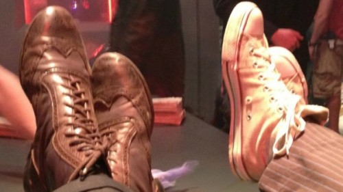 Whoovians: This is a picture of David Tennant and Matt Smith's shoes. You're welcome.
