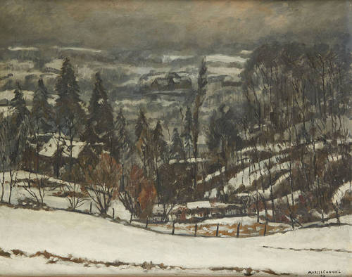 blastedheath:  Marcel Canneel (Belgian, 1894-1953), Vallon enneigé [Snowy valley], 1940. Oil on canvas, 80 x 100 cm.