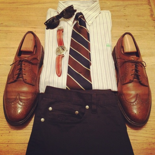 Basic preppy look!