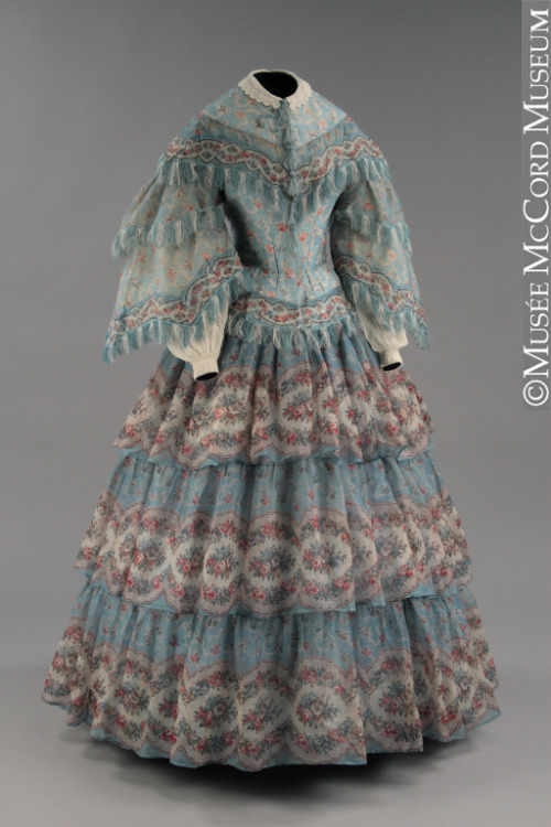 omgthatdress:  Dress 1854-1855 The McCord Museum  This dress is absolutely exquisite.