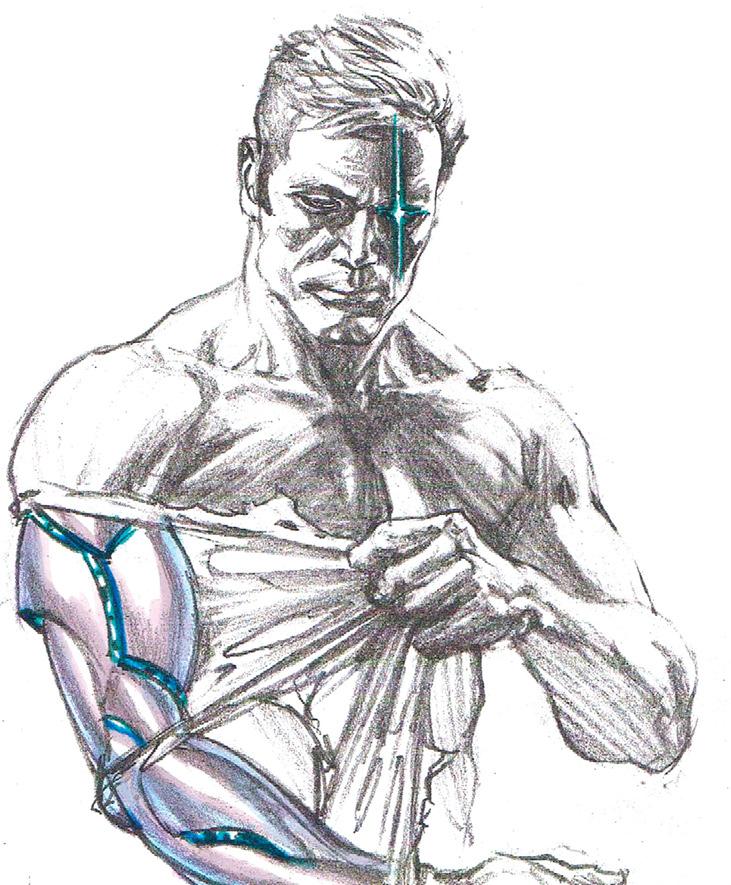 marvel-dc-art:  The Bionic Man sketch by Alex Ross