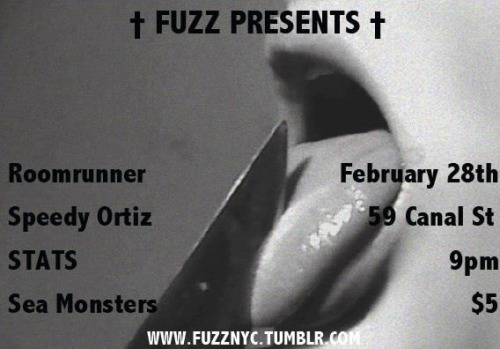 YEAH WE'RE PLAYING FUZZ THIS THURSDAY