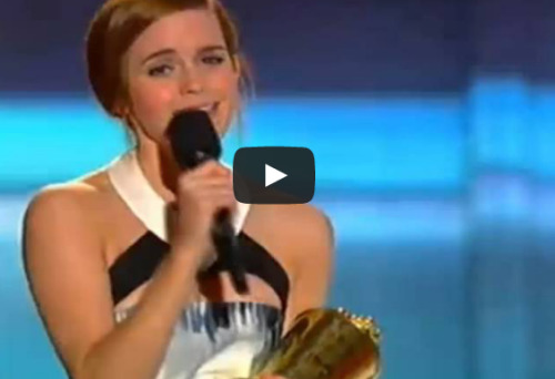 Emma Watson's Movie Awards Trailblazer Speech Proves We Should Rename It 'The Girl Crush Award'