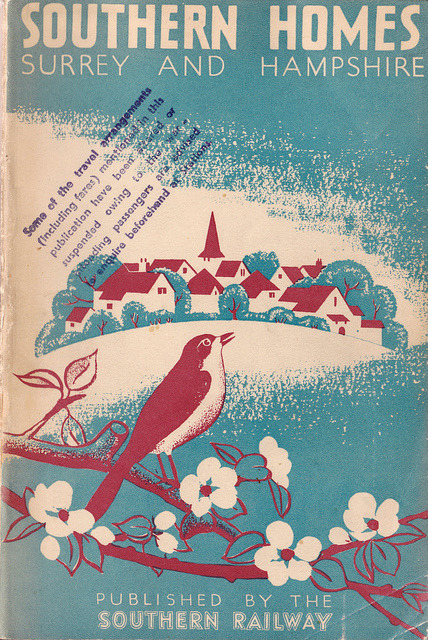 ideefixedujour:  Southern Homes, Surrey & Hampshire - booklet issued by the Southern Railway of England, c1938 by mikeyashworth on Flickr.