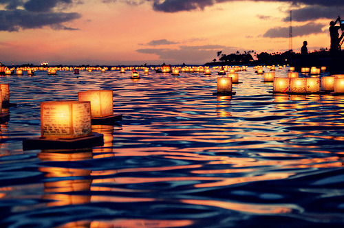bluepueblo:  Floating Lantern Festival, Honolulu, Hawaii photo via brutal