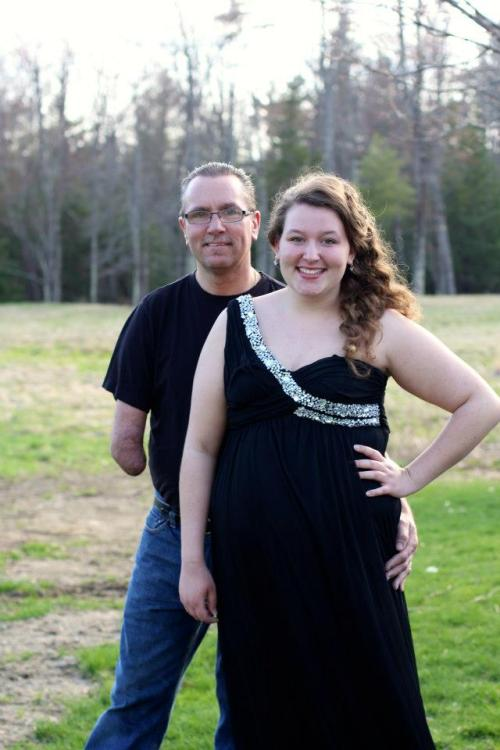 Prom Night! My dad and I together before prom!  Dress- Davids bridal size 12!