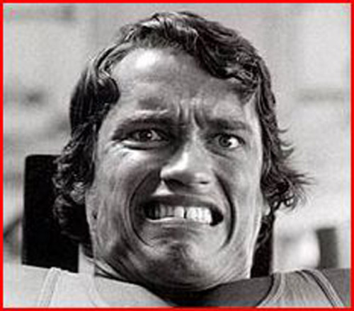 My face on my last rep of my last set, every time…every…time