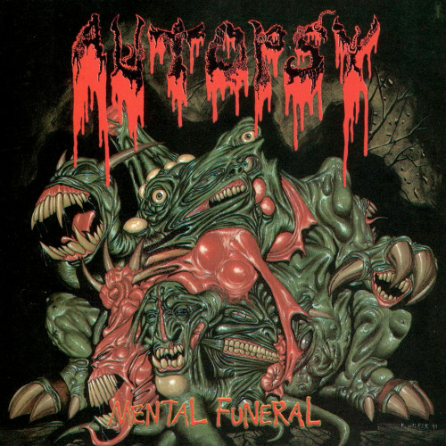 "insectosmx:  Autopsy - Mental Funeral (Producido por Paul ""Hammy"" Halmshaw, Peaceville Records, 1991) Ilustración de Kev Walker www.facebook.com/insectosmx  Such a great cover"