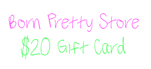 poppingnails:  GIVEAWAY TIME!!!! Click HERE to enter my giveaway sponsored by Born Pretty Store to win a $20 gift card!