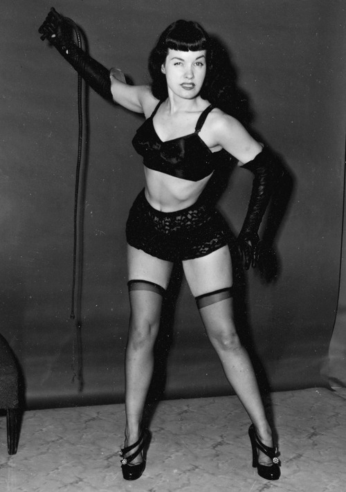 Bettie Page photographed by Irving Klaw c. 1950's