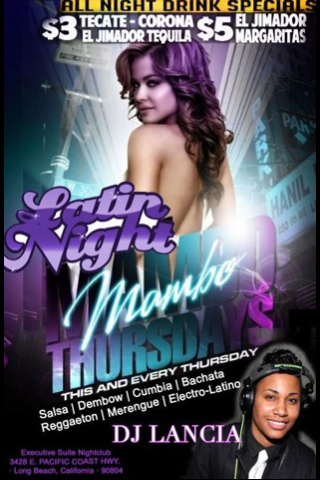 This Thursday and Every Thursday night at The Executive Suite Night Club in Long Beach