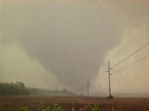 nbcnews:  Tornado spotted near Wichita, Kan., residents told to take cover (Photo: Shalyn Phillips / TVNWeather.com) People in two states were taking shelter amid wailing warning sirens Sunday as tornadoes were confirmed to have touched down in Kansas and Oklahoma. Thunder clouds were also heaving hail — dime to softball sized — as well as rain across broad swaths of both states.  Read the complete story.