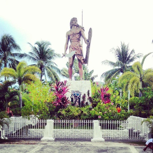 At Mactan Shrine.