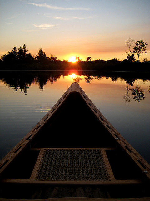 elorablue:  Canoeing at Sundown by cedarkayak on Flickr.