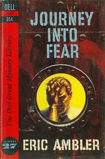 Eric Ambler - Journey Into Fear (Dell D343) on Flickr.Via Flickr: Ambler, Eric Journey Into Fear 1960 Dell D343 Cover by William Teason