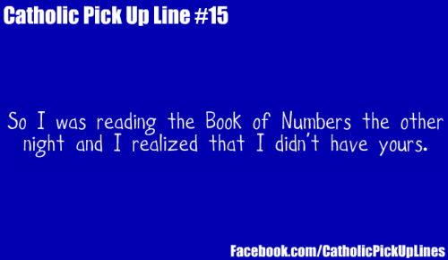 So I was reading the Book of Numbers the other night and I realized that I didn't have yours.