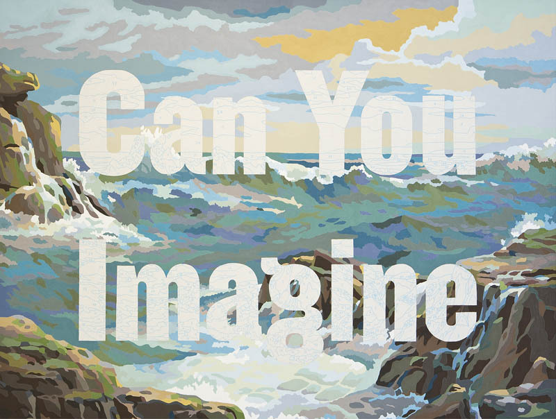 Can You Imagine and YES (You Complete the Picture) by Trey Speegle are two of the logo-centric works in our Art for Word Nerds Gift Guide If you or someone you love is a word nerd (first of all, can we be friends? 20x200 adores word nerds) then enjoy our selections of art celebrating of mottos, mantras, books, poems, typography, fonts and the geeks who cherish them.  See all of our gift guides.