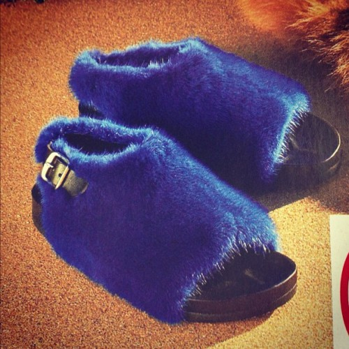 #celine #fur #bunion #sandals. I'd hit it.