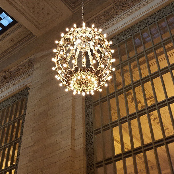 Gorgeous chandelier at Grand Central Station. #grandcentralstation #sgs4 #nyc #gs4 #galaxys4 #hdr