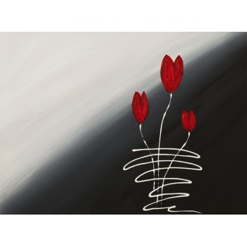 Red Tulips Modern Contemporary Painting