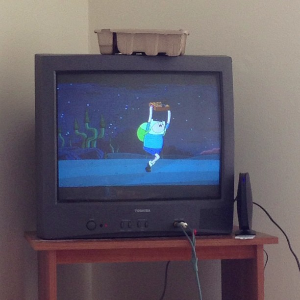 Watching Adventure Time! Best way to start the morning.
