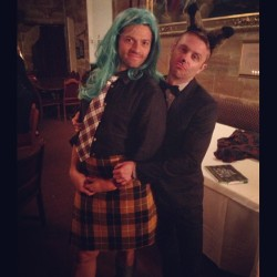 assstiel:  nerdist:  I had the weirdest dream that I was a fancy fox who took a kilted Misha Collins to Medieval Prom. #gishwhes  i'm fucking screaming