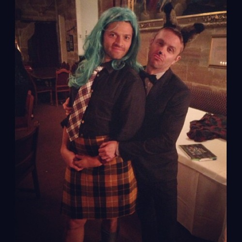 mishstiel:  nerdist:  I had the weirdest dream that I was a fancy fox who took a kilted Misha Collins to Medieval Prom. #gishwhes  oh my god