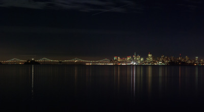 View of San Francisco from our home in Sausalito