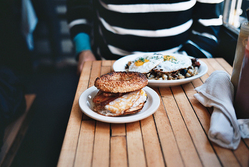 mikarogers:  egg, chazzer, and cheese on a bagel | mile end by naftels on Flickr.