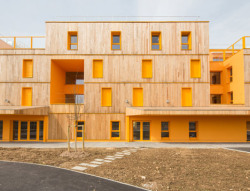 Morangis Retirement Home by Vous Etes Ici Architects… found in Paris.. I'm glad they are working on livening up these spaces for the elderly!!