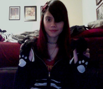 Hi. I have pawprints on my jacket sleeves.