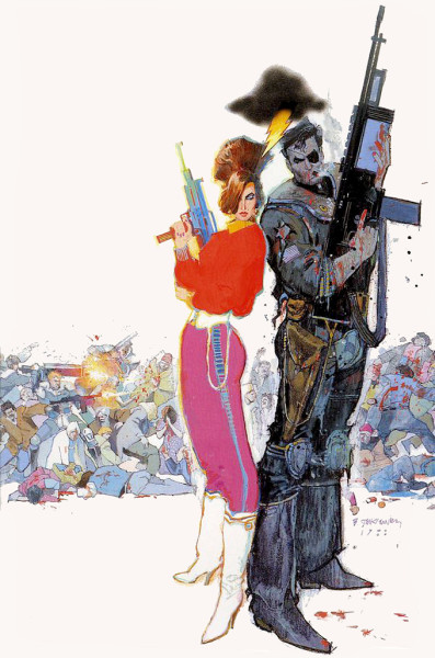 comicblah:  Nick Fury vs. S.H.I.E.L.D. # 2 cover by Bill Sienkiewicz