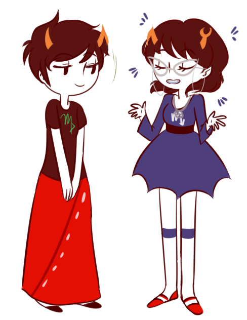 Anonymous asked you:if youre taking requests, maybe aranea and kanaya? :O i think theyd be super cute!!