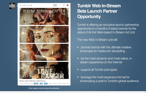 "mazarin221b:  shortformblog:  maxistentialist:  Tumblr's new ad sales pitch deck: ""Brands finally are front and center.""  Your take, people of Tumblr?  *headdesk* It's just a banner day for bullshit, isn't it?  My tumblr app has been doing this for weeks already. Its not new?"