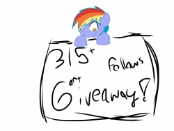 question-the-rainbow-dad:  315+ followers giveaway! Rules and shctuff: You must be following meh! It would be unfair to my other followers The whole thing will be 100% random! You have to reblog to enter! Likes don'tcount You may only reblog up to five times Everytime you reblog you get ONE number in the drawing And don!'t froget add a ref to your oc (or canon character) Okay here we go! First place!  Something very shaded like these, these are super old (2 months old to be exact) so they would be much better And One full drawing with backround like this   Second place! One drawing like this but with shading And a lineart Like one of these but with hair THIRD PLACE! Normal drawing Fourth place! Lineart Fifth place! One sketch! Now go forth! And rebagel!  Reblogging because I LOVE this blog~!