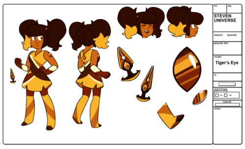 gemsona tiger& 039;s eye turnaround reference sheet steven universe my art
