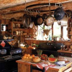 voiceofnature:  Rustic Kitchen