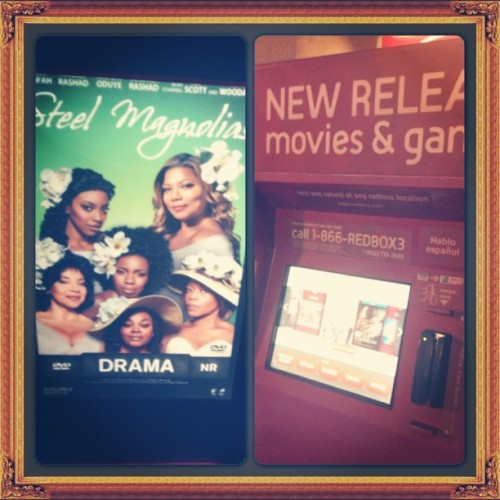 "It was a pleasant #surprise to find the remake of Steel Magnolias in #Redbox after my nightly #grocery #shopping! If you didn't get a chance to hear my original #song ""Let Me Love You,"" you can pick it up at Redbox! #classic"