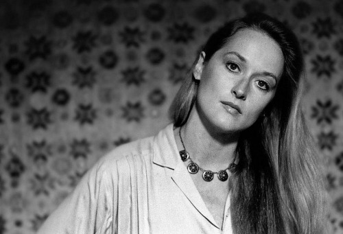 Meryl Streep during the filming of Woody Allen's Manhattan in 1979.