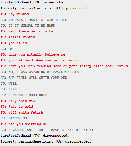 atsstalker:  i was on msparp as karkat and this happened