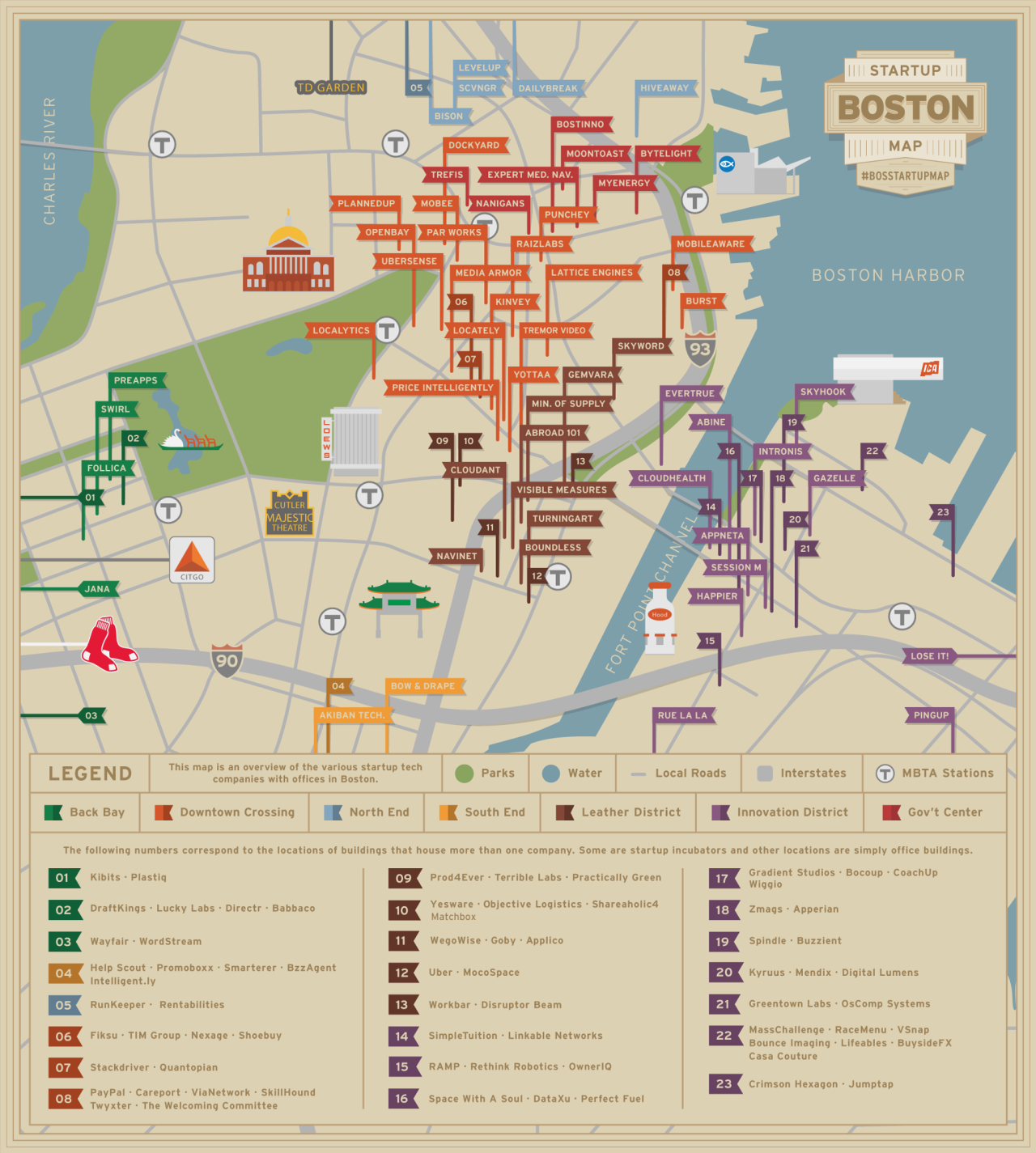 The Boston Startup Map, according to Kinvey