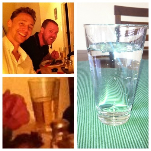 bluebelle22:  sasha4jake:  Yes, that's Paul's glass, not Tom's. Still, I OWN the same kind. And I use it. Now. Tom and I are practically soul mates.  Hehehe. Now combine that with your earlier cutlery pic and BAM… Your place = Tom's place. Come on, baby, be honest about it: where are you hiding him?  In my mind. The smallest of all cells he fits in.