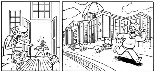 Here's a sneak peak of a short story I drew for Bongo's upcoming Mr. Burns comic book! It was written by the hilarious Ian Boothby and edited by the wonderful Nathan Kane. It'll be out in June! http://www.tfaw.com/Promos/Featureddiscounts/Profile/Malevolent-Mr-Burns-(One-Shot)___426026