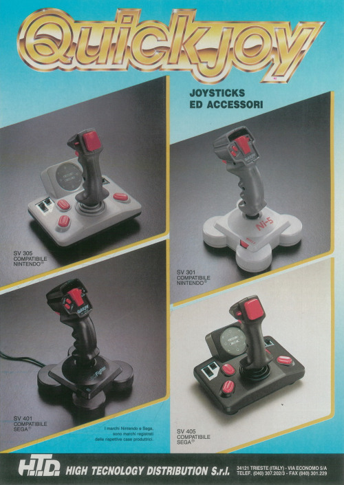 Quickjoy joysticks.