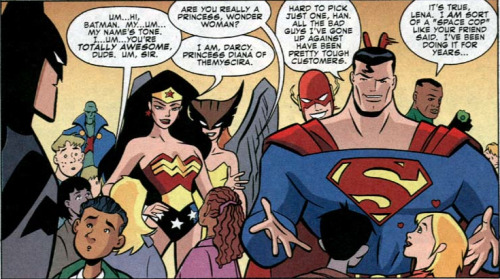 thehappysorceress:   Justice League Adventures #2  The Timm-verse is very good at making me cry.