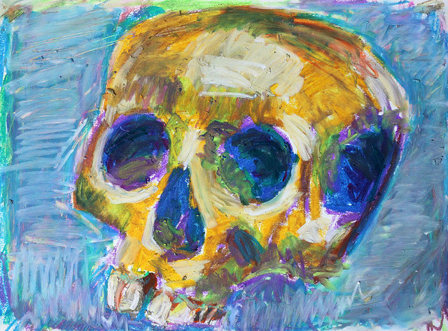 oatmealisforchamps:  skull study, No. 916 by blugumbo on Flickr.